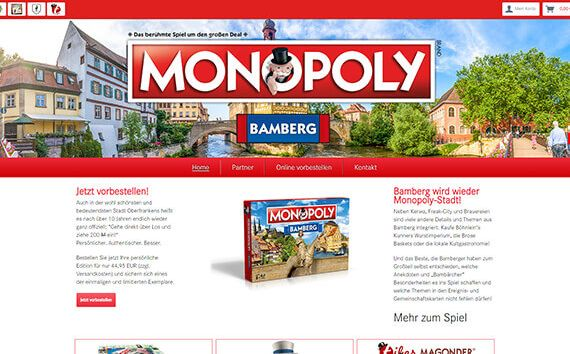 Monopoly Onlineshop