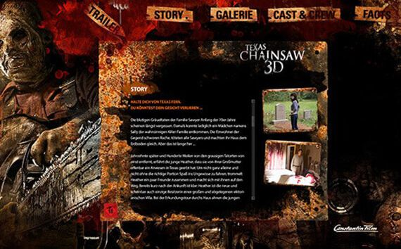 "Produkt-Microsite ""Texas Chainsaw Massacre 3D"""