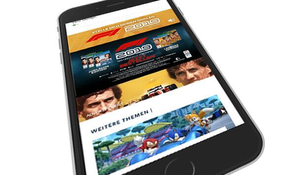 mobile Interscroller mit Video für F1 2019