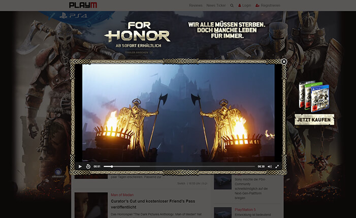 For Honor Online-Kampagne