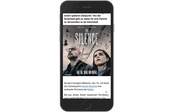 "mobile Interscroller ""The Silence"""